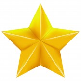 19372183-gold-star-on-a-with-background